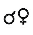 male and female grunge icon black vector image vector image