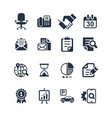 media and office icons set vector image vector image