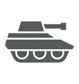 military tank glyph icon war and army vehicle