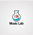 music lab logo icon element and template vector image vector image