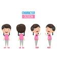 of cartoon character design vector image vector image