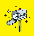 old mailbox line icon vector image vector image