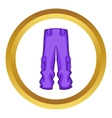 Pants snowboard clothes icon vector image vector image
