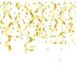 Party golden confetti streamers vector image vector image