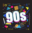 party time 90s style label vector image vector image