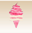 pink ice cream poster vector image vector image