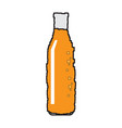 pixelated beer bottle vector image vector image