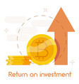 return on investment icon cartoon style vector image vector image