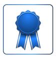 Ribbon award icon blue vector image vector image