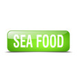 sea food green square 3d realistic isolated web vector image vector image