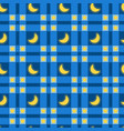 seamless pattern plaid with a month and stars vector image