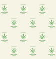 seamless pattern with green cannabis labels vector image vector image