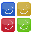 set of four square icons with dial symbol vector image vector image
