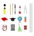 set school supplies vector image vector image