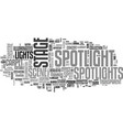 spotlight word cloud concept vector image