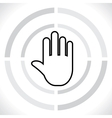 stop icon hand vector image vector image