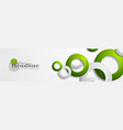tech geometric banner design with rings vector image