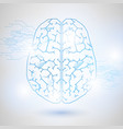 technology low poly design of human brain vector image vector image