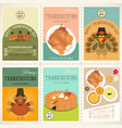 thanksgiving day posters set vector image vector image