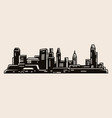 urban landscape with modern buildings vector image