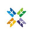 Vacation Travel Plane logo icon vector image