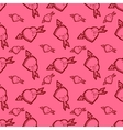 Valentines Day pink seamless pattern with hearts vector image vector image