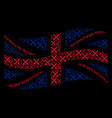 waving british flag mosaic of crossing swords vector image vector image