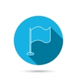 Waving flag icon Location pointer sign vector image vector image