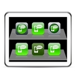 SMS green app icons vector image