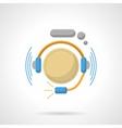 Hotline flat color design icon vector image