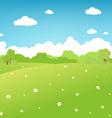 cartoon landscape vector image