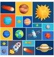 Background with solar system planets and celestial vector image