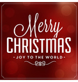 Christmas Typographic Background Merry Christmas vector image