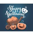 halloween of decorative orange pumpkins with vector image