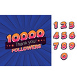 10000 followers thank you for social vector image