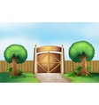 A gated park vector image