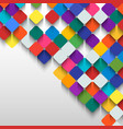 Abstract background of colored squares with space vector image
