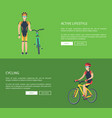 active lifestyle and cycling vector image vector image