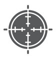 aim glyph icon focus and circle target sign vector image vector image