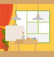 art studio interior creative workshop room vector image vector image