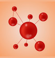 background molecules and chemical formulas vector image vector image