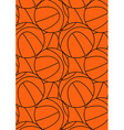 Basketball repeat pattern vector image vector image