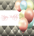 Beautiful card for birthday with grey background vector image vector image