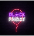 black friday neon signboard bright design with vector image vector image