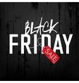 black friday wooden board vector image vector image