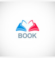 book knowledge logo vector image vector image