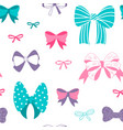 bow pattern seamless hand drawn ribbon texture vector image vector image