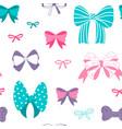 bow pattern seamless hand drawn ribbon texture vector image