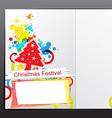 christmas celebration brochure design vector image vector image