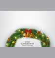 christmas greeting card with fir branches vector image vector image